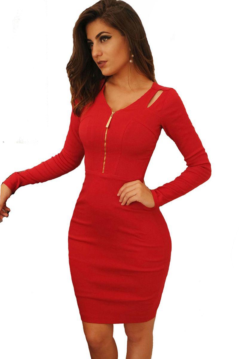 Vestido Tubinho Vermelho Bengaline Mulata Café Moda Evangélica