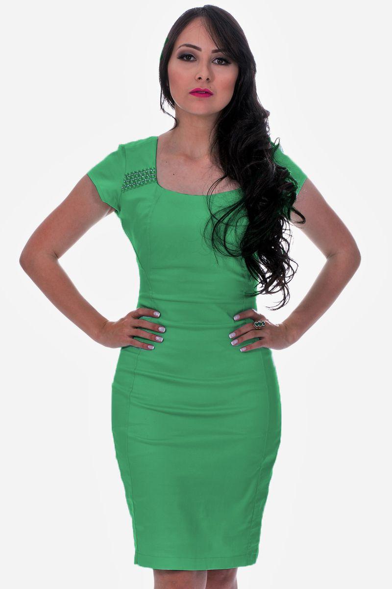 Vestido Tubinho com Bordado Acassyana Moda Evangélica