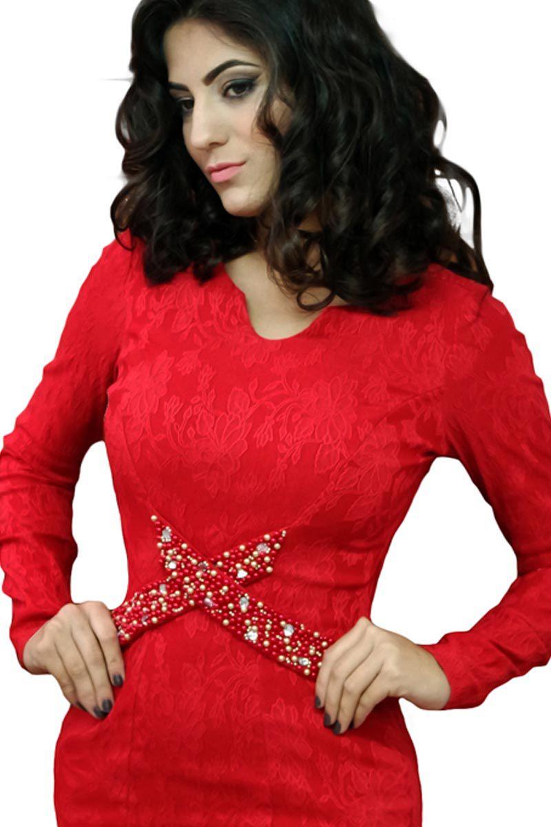 Vestido Tubinho com Bordado Mulata Café Moda Evangélica