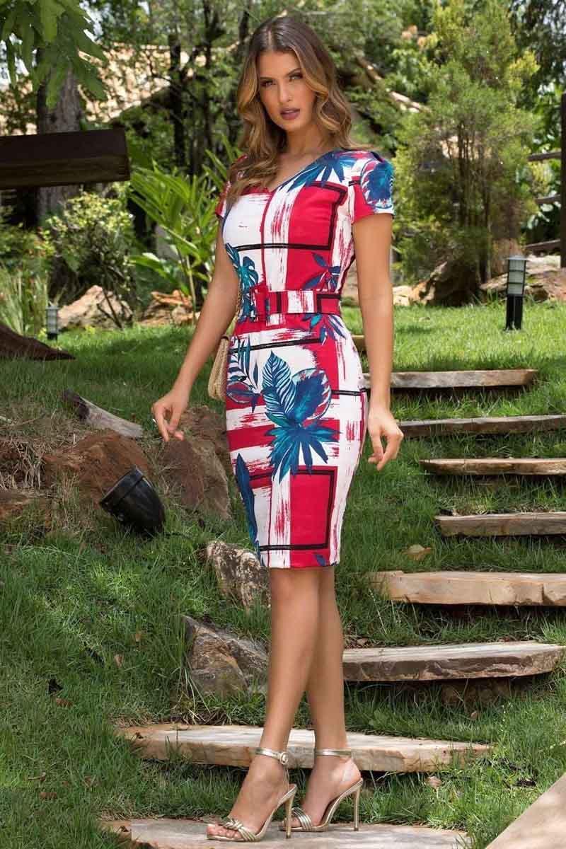 Vestido Tubinho  Neoprene Moda Evangélica