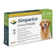 Antipulgas Simparic 80 Mg cães de 20 a 40 Kg com 3 comprimidos