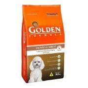 Ração 10kg Golden Mini Bits Salmão Arroz Cães Adultos Pequeno Porte