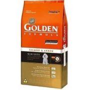 Ração Golden Mini Bits Salmão Arroz Cães Adultos 15kg - Linha Premium