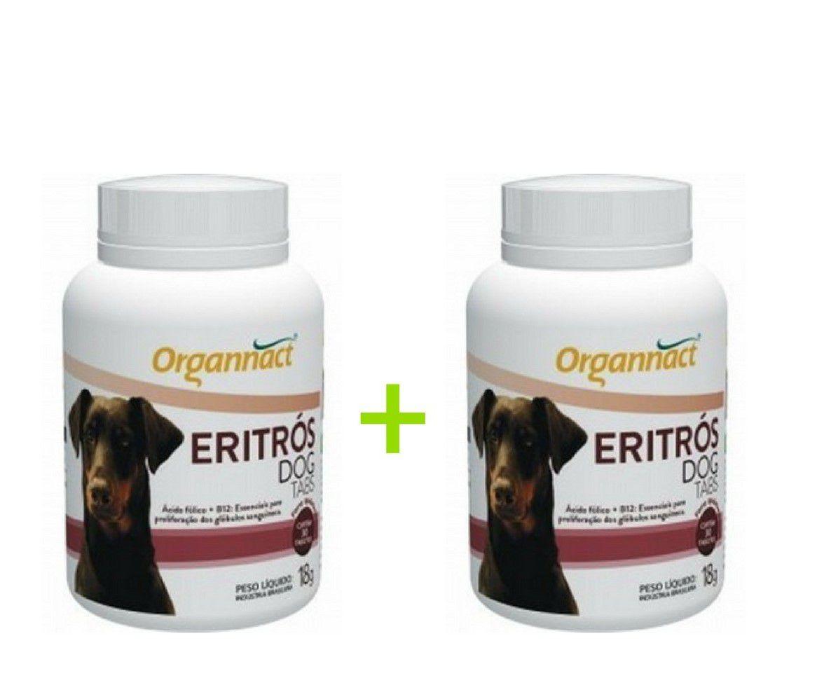 2 X Eritrós Dog Tabs 18 G Organnact 18g