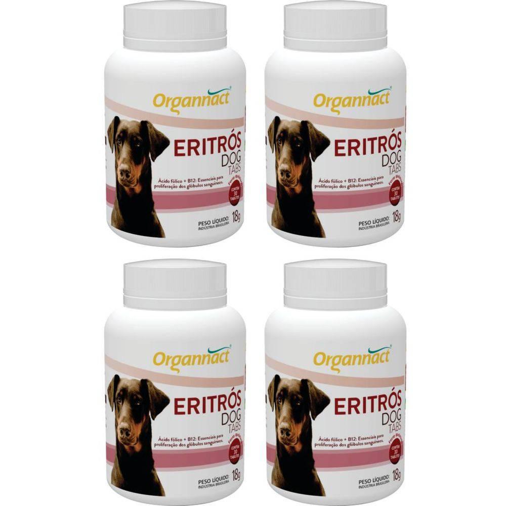 4 X Eritrós Dog Tabs 18 G Organnact 18g