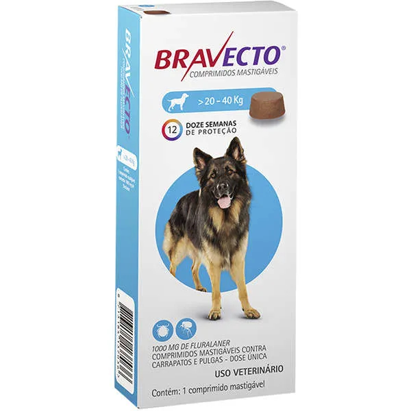 Bravecto 1000 mg 20-40 kg