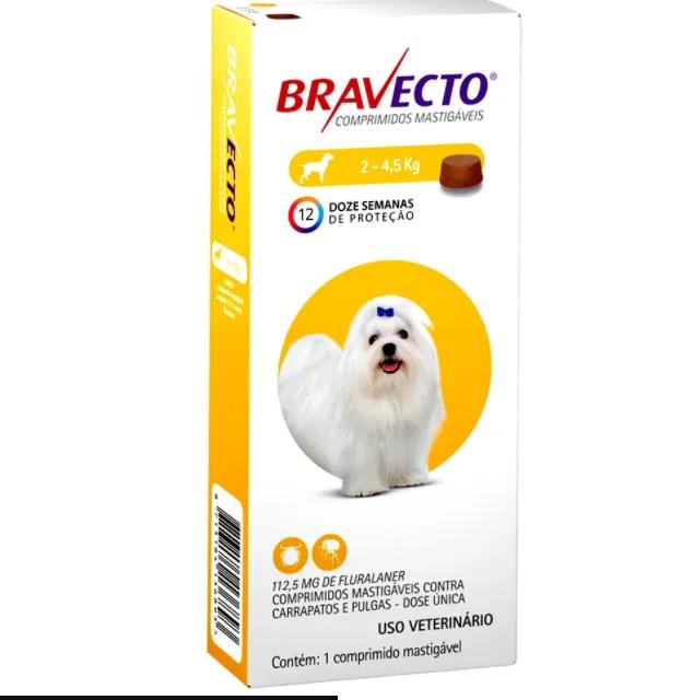 Bravecto 112,5 mg até 4,5 Kg