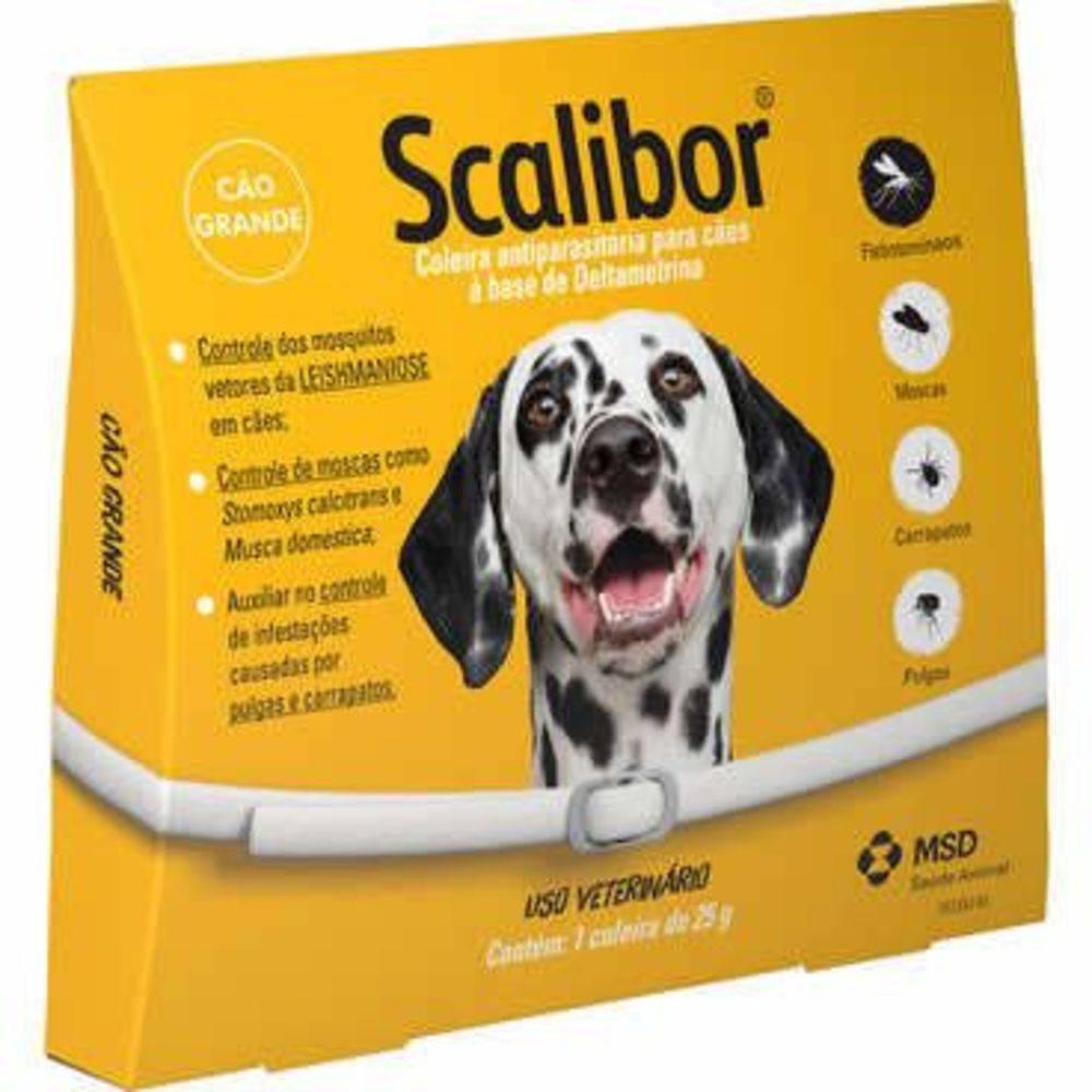 Coleira Antiparasitária Scalibor 65 cm - Cães Grandes