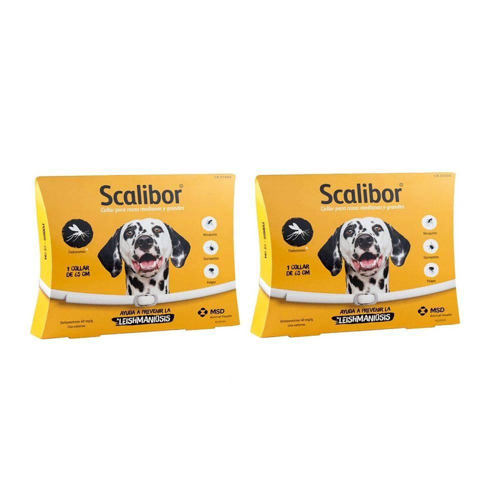Coleira Scalibor 65 Cm Kit Com 2 Unidades Msd Leishmaniose