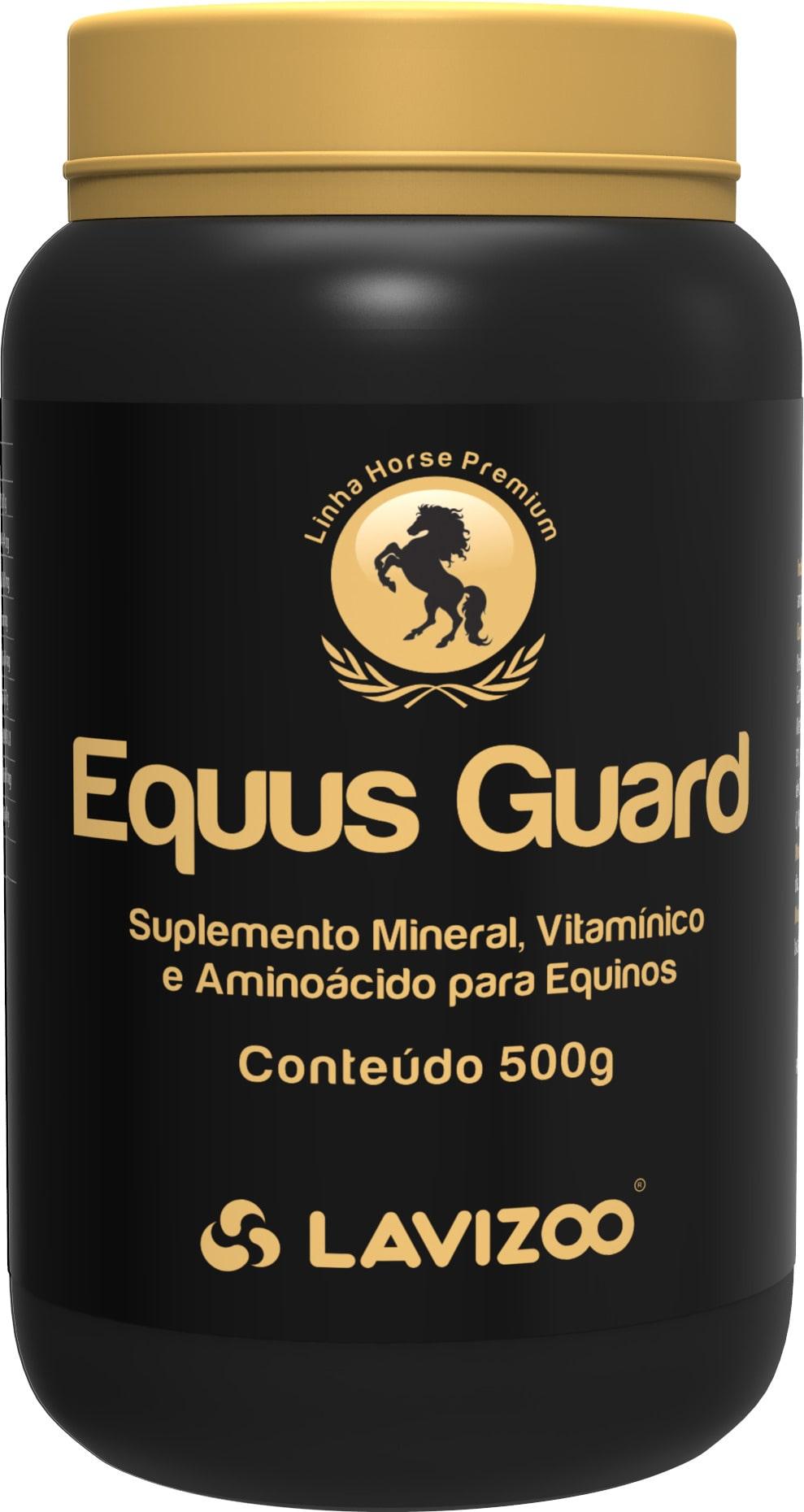 Equus Guard 500gr Lavizoo - Linha Premium Aminoácidos e Minerais para Cavalo