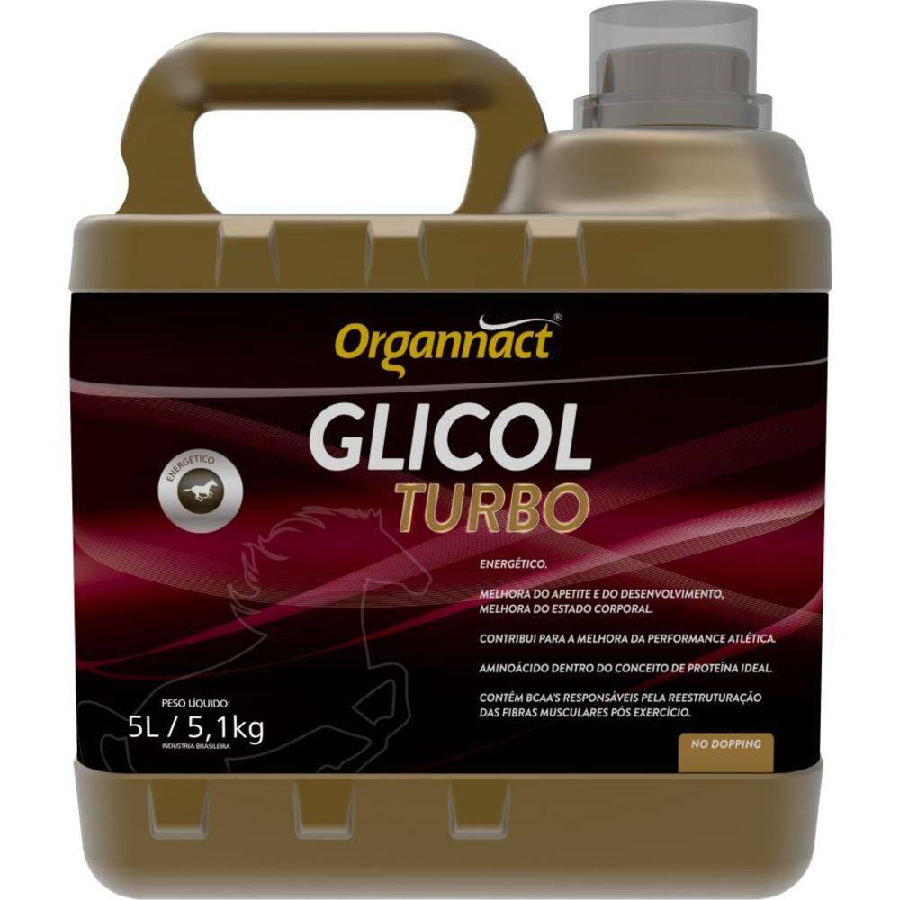 Glicol Equi Turbo Organnact Cavalo 5 Litros Equino 5l
