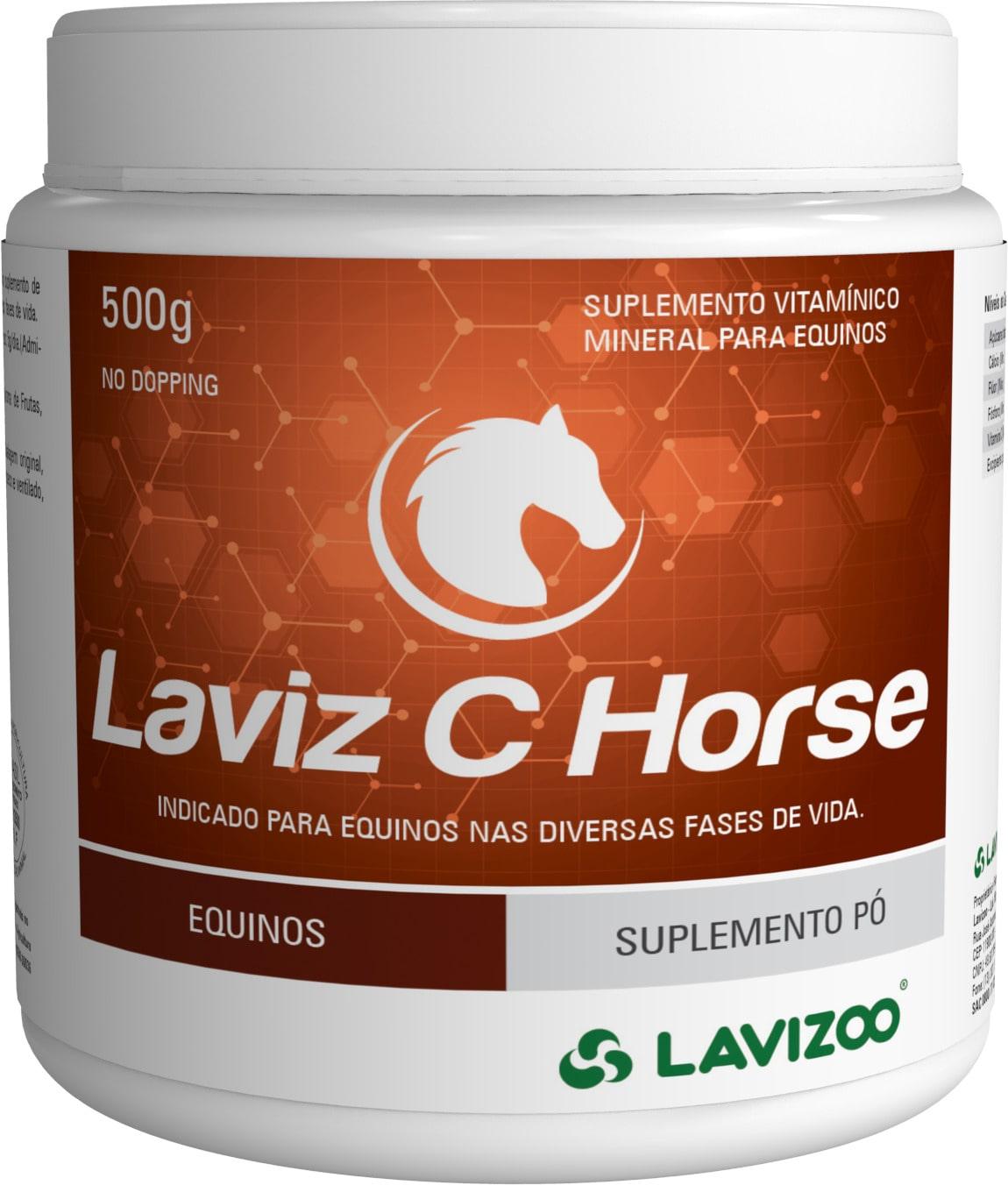 Laviz C Horse 500gr Lavizoo - Suplemento Vitamínico para Equinos