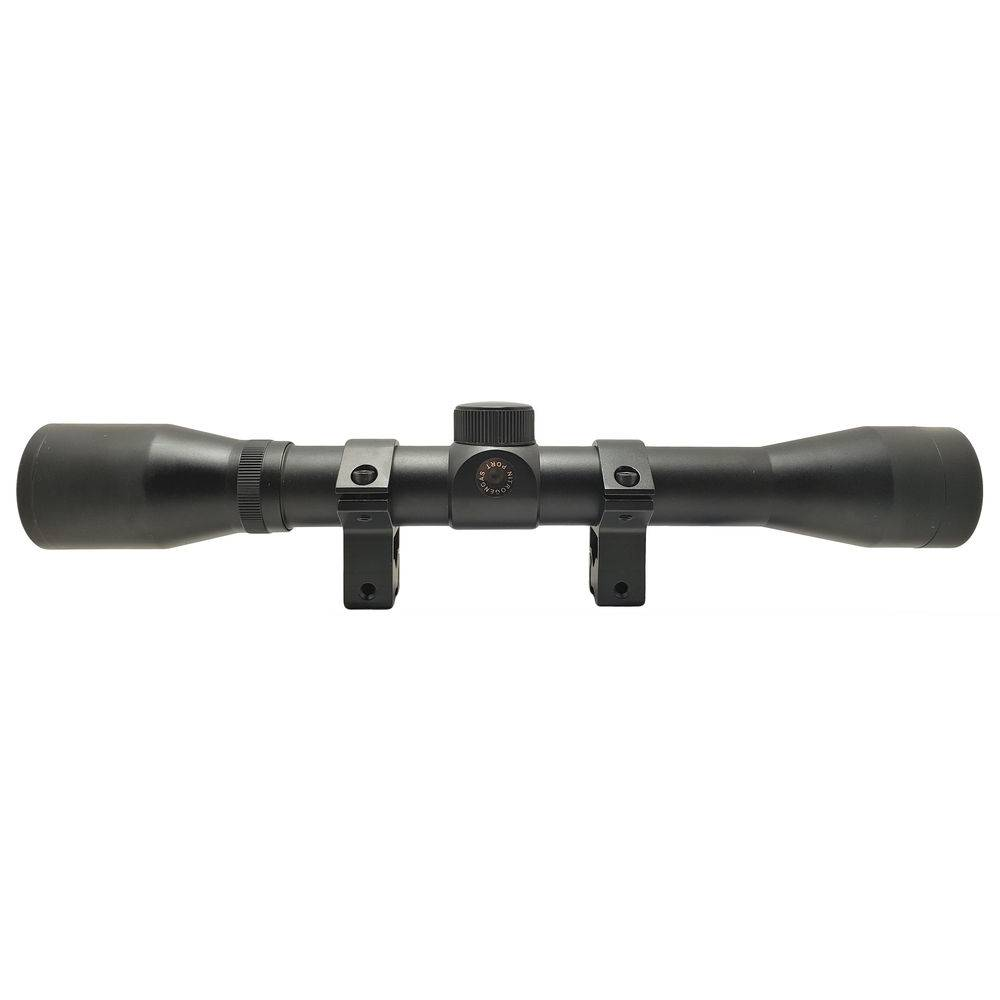 "LUNETA RIFLESCOPE 4x32 SELADA NITROGÊNIO RETÍCULO RANGE FINDER MOUNT 3/8"" 11MM"