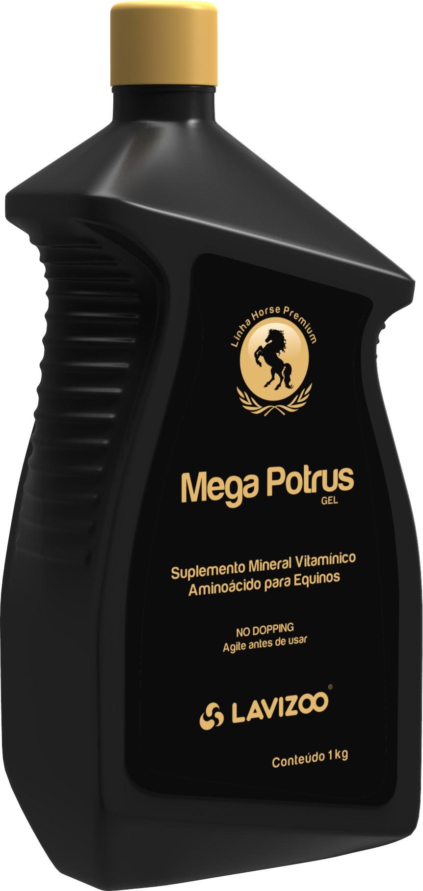 Mega Potrus 1L Lavizoo - Linha Premium Suplementação Equina