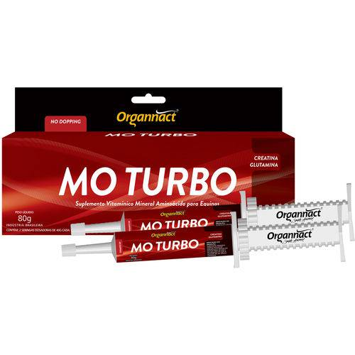 Mo Turbo Organnact - Modificador Orgânico ( 2 X 40 G )