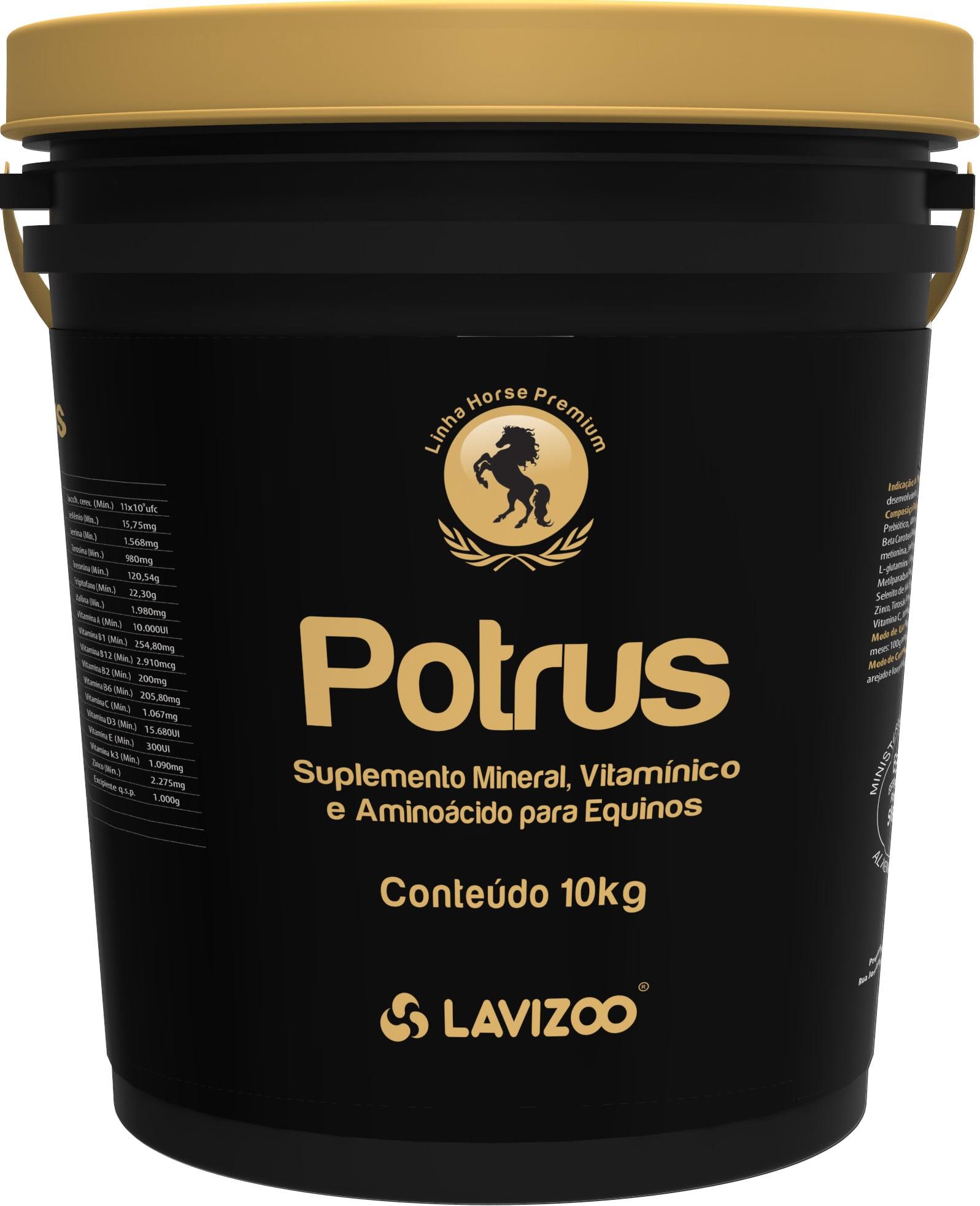 Potrus 10kg Lavizoo - Linha Premium Suplementação Equina