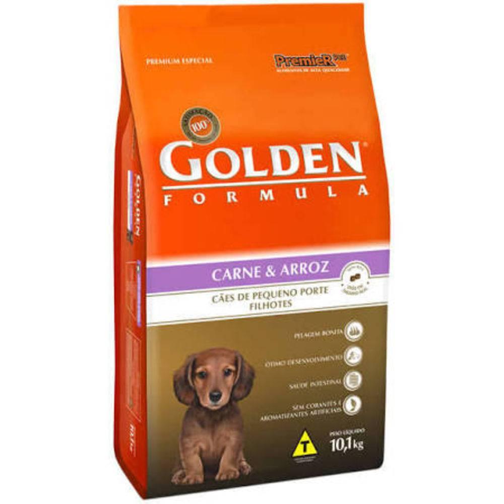 Ração Golden Formula Filhote Carne E Arroz Mini Bits 10kg - Premier