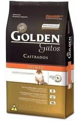 Ração Golden Fórmula Gatos Adultos Castrados Sabor Salmão 10 Kg
