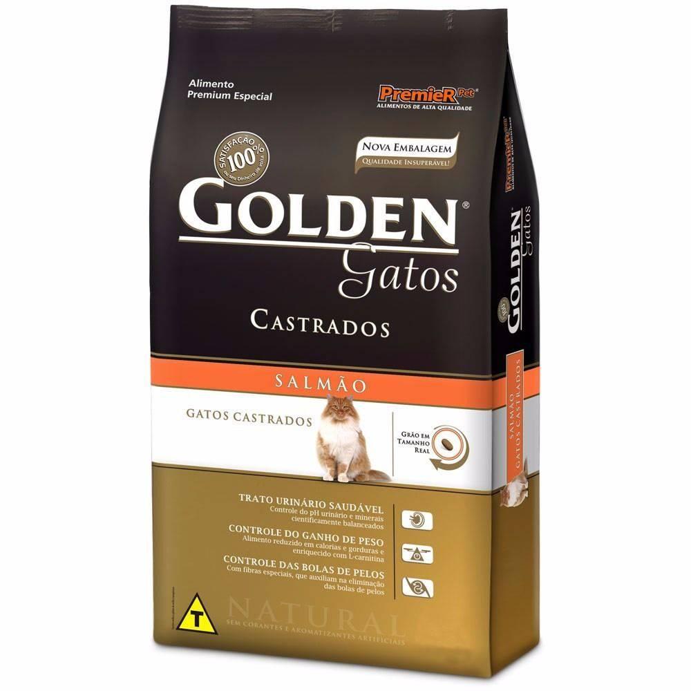 Ração Golden Gatos Castrados Adultos  Sabor Salmão 10kg