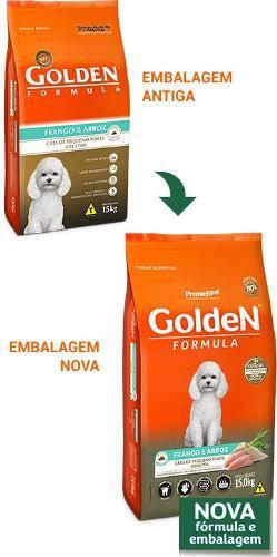 Ração Golden Mini Bits Frango Arroz Cães Adultos 15kg - Linha Premium