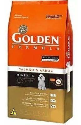 Ração Golden Mini Bits Salmão Arroz Cães Adultos 15kg