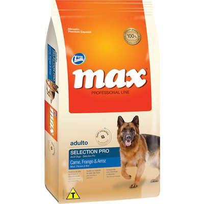 Ração Max Selection Pro Cães Adultos Carne, Frango e Arroz 15kg