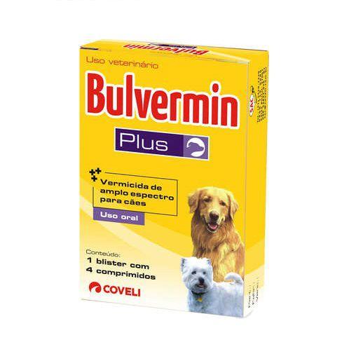 Vermífugo Bulvermin Plus 4 comprimidos