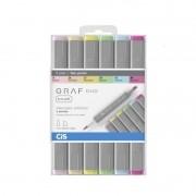 Caneta Cis Graf Duo Brush com 6 - Pastel