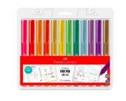 Caneta Fine Pen Faber Castell - 12 cores