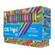 Caneta Gel Cis Trigel - 60 cores