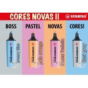 Caneta Marca Texto Stabilo Boss Pastel - Cores Novas II