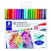 Caneta STAEDTLER Double Ended Brush - 18 cores