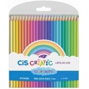 CIS, Lápis de Cor Criatic 24 Cores Tons Pastel