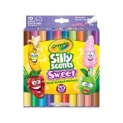 Crayola, Caneta Duo Silly Scents, Cheiro doce - 20 cores
