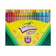 Crayola Twistables Colored Pencils - giz de cera retrátil - 50 cores