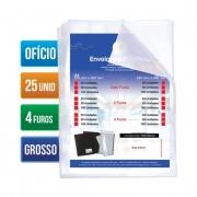 DAC, Envelope Plástico Ofício - Grosso - 4 Furos
