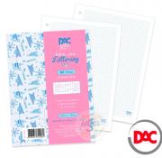 DAC, Refil folha fichário Lettering A4 Quadriculada - 80 folhas