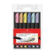 Faber-Castell, Canetinha Supersoft Brush Pen - Tons Pastel - 6 cores