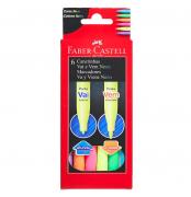Faber Castell, Canetinha Vai e Vem Neon, 6 cores