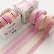 Kit Washi Tape 5 cores - pink pastel