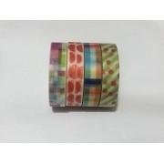 Kit Washi Tape estampada - 4 peças