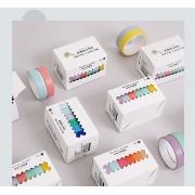 Kit Washi Tape, Pack 6 cores