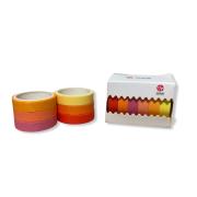 Kit Washi Tape, Pack 6 cores - 3 metros