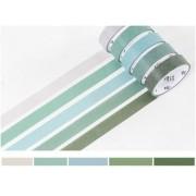 Kit Washi Tape pastel - 5 unidades