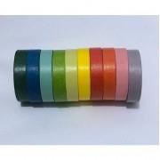 Kit Washi Tape Rainbow - 10 peças