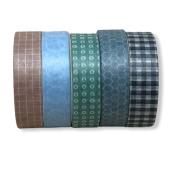 Kit Washi Tape Retrô - 5 cores