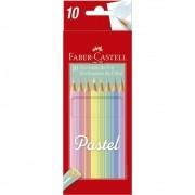 Lápis de Cor Faber Castell  - Tons Pastel  - 10 cores