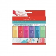 Marca texto Faber Castell Textliner  Pastel 6 cores