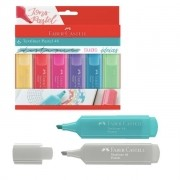 Marca texto Faber Castell Textliner  Pastel 8 cores