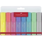 Marca texto Faber Castell Textliner - Pastel + Fluo - 8 cores